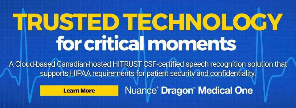 Dragon Medical One - Trusted Technology in Critical Moments