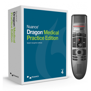 Nuance Dragon Medical Practice Edition 4 with Philips SpeechMike Premium Air SMP4000