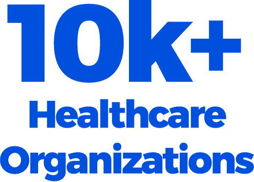 10k+ Healthcare Organizations