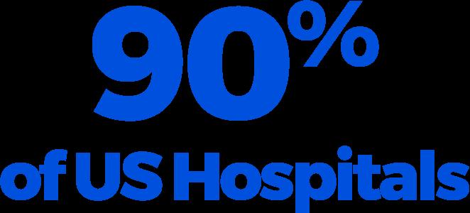 90% of US Hospitals